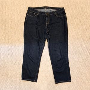 Jennifer lopez dark denim capris size 16